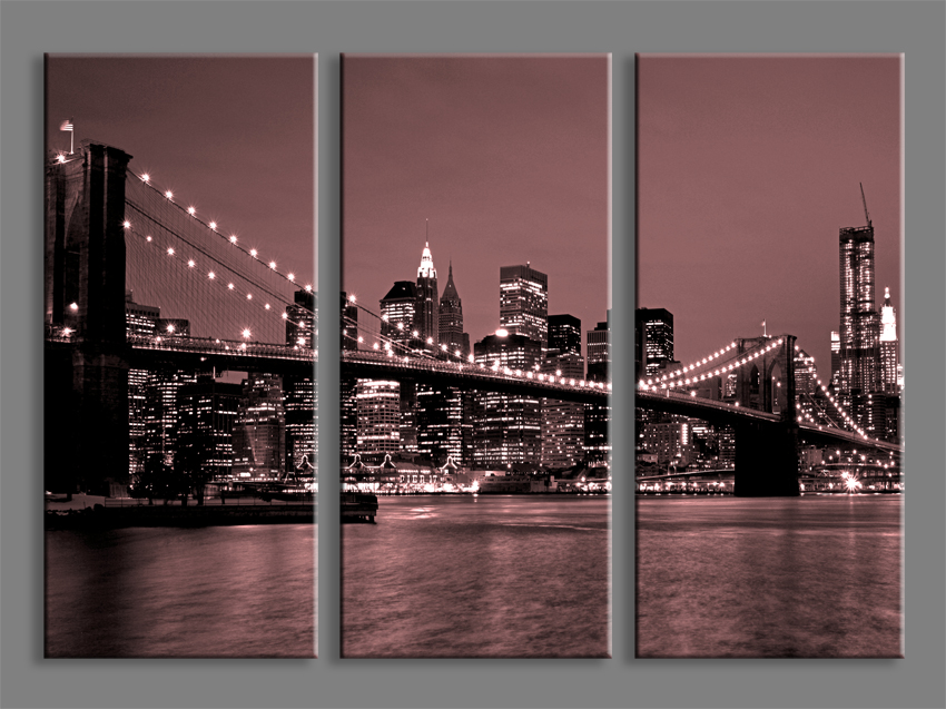 Quadri moderni new york bridge vii stampe su tela moderne - Stampe e quadri ikea ...