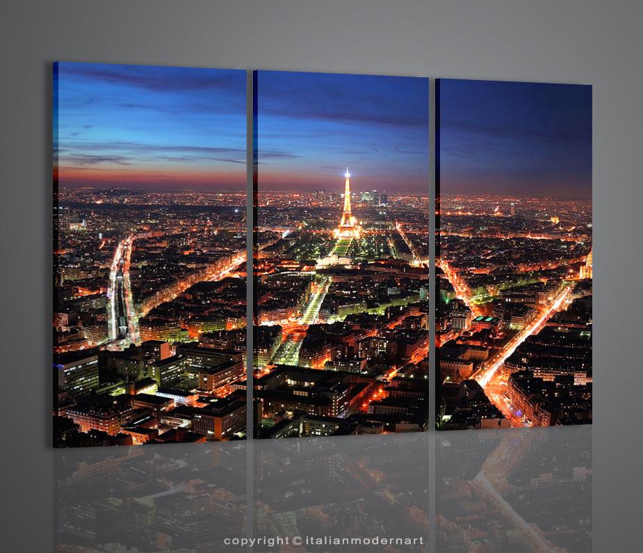 quadri moderni paris night vision quadro citta 39 parigi