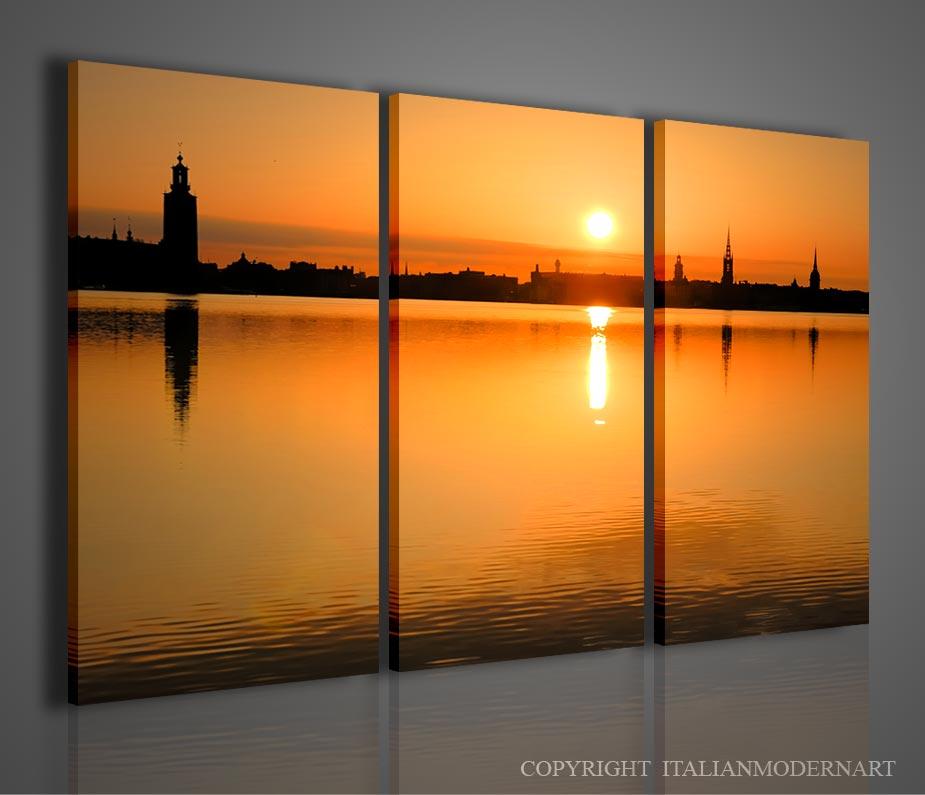 Quadri moderni tramonto natura vendita | Quadri moderni