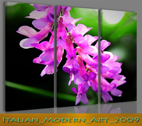 Stampe su tela moderne con fiori violet background for Stampe su tela moderne