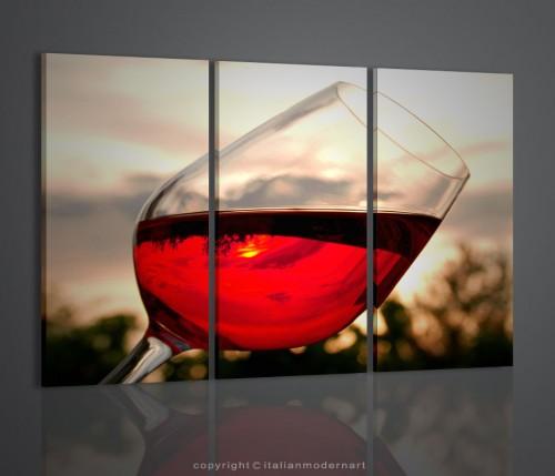 Quadri moderni bicchiere di vino arredamento enoteca bar for Arredamento enoteca wine bar