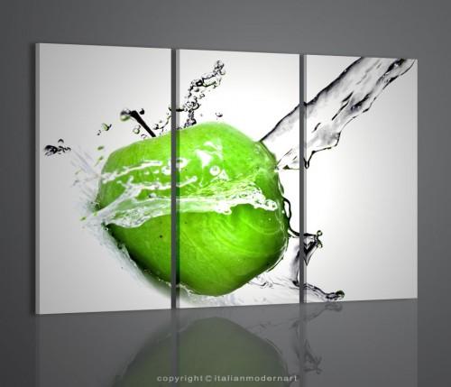 Apple green quadri moderni frutta quadri moderni for Quadri moderni online