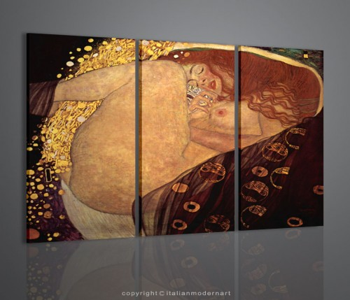 Gustav Klimt quadri arredamento classico restauro mobili antichi bacio ...