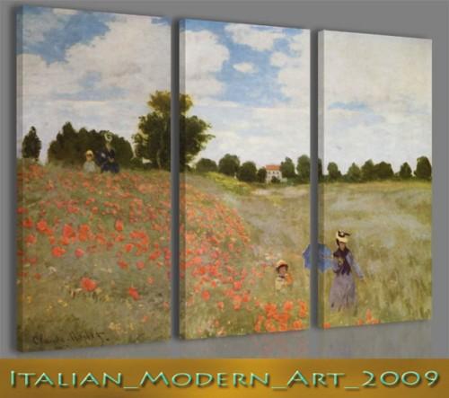 Quadri famosi astratti Claude Monet stampe su tela