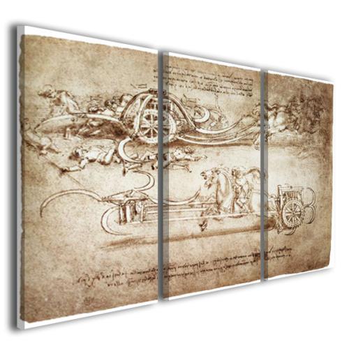 Quadri moderni Leonardo da vinci stampe su tela canvas