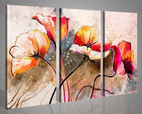 Quadri Moderni Con Fiori Many Colors Stampe Su Tela Canvas
